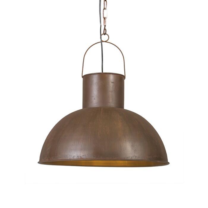 Pendelleuchte-Rust-XL-rostfarben