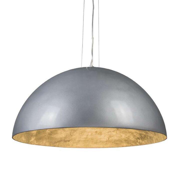 Pendelleuchte-Magna-hochglanz-70cm-silber-silber