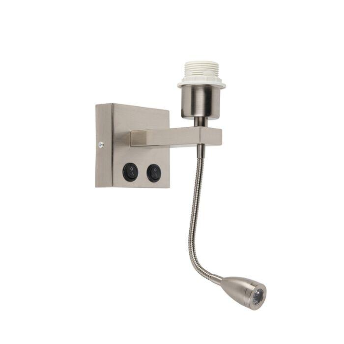 Moderne-Wandleuchte-aus-Stahl-mit-Flexarm---Brescia-Combi