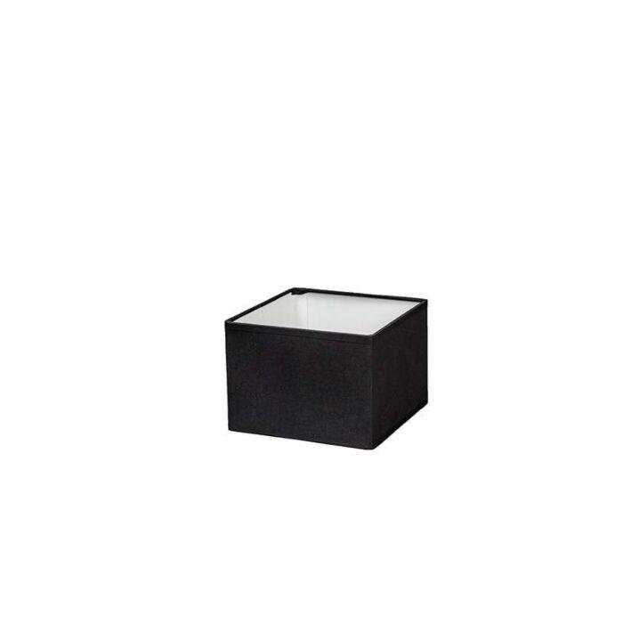 Lampenschirm-quadratisch-17/17/12-schwarz-E14