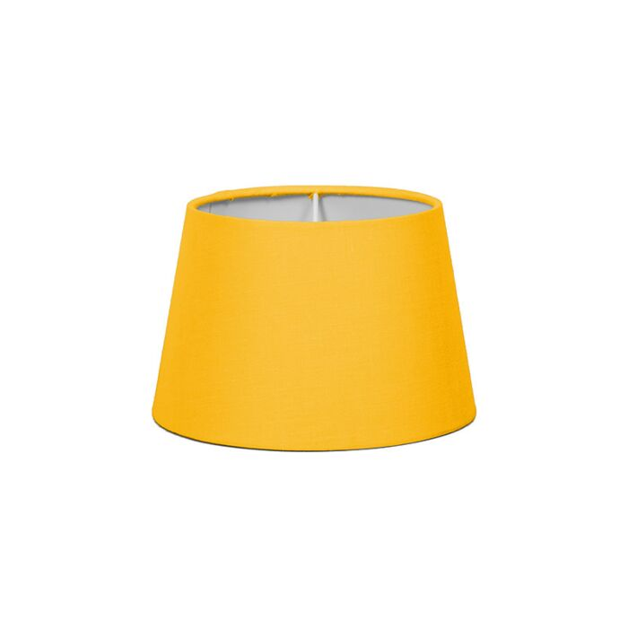 Lampenschirm-18cm-rund-SD-E27-gelb