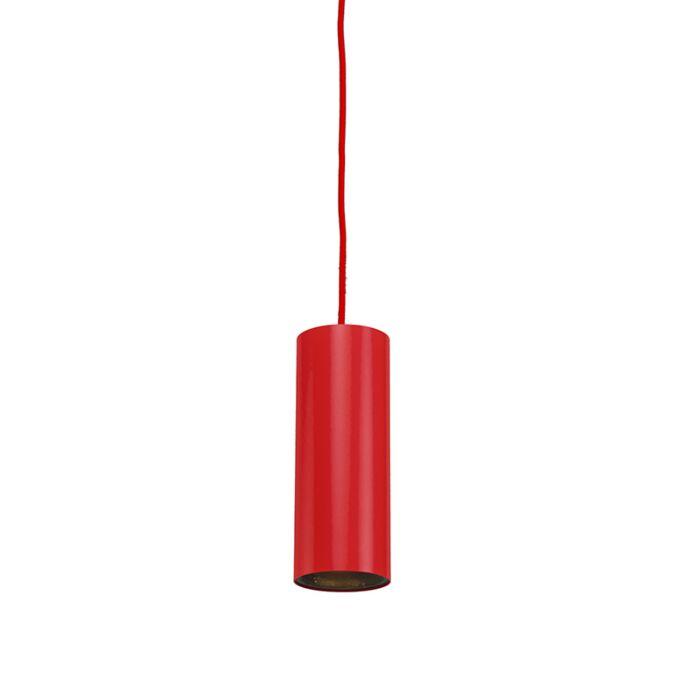 Pendelleuchte-tubo-1-rot