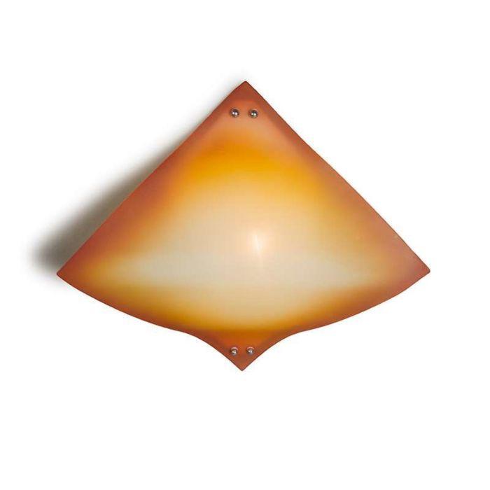 Deckenleuchte-Wave-gelb-orange