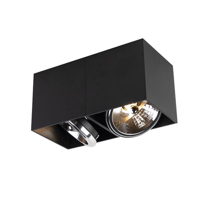 Designspot-rechteckig-2-flammig-schwarz-inkl.-2-x-G9---Box