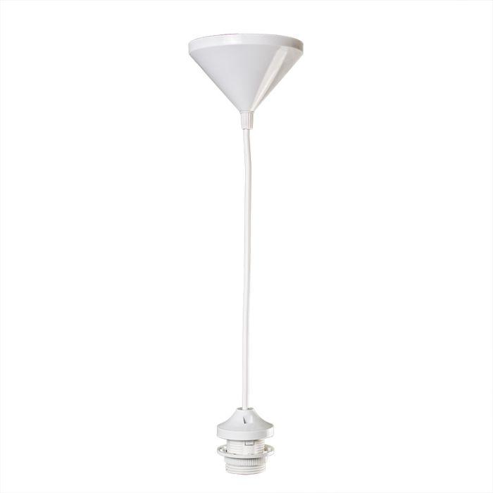 Pendel-30cm-E27-weiß