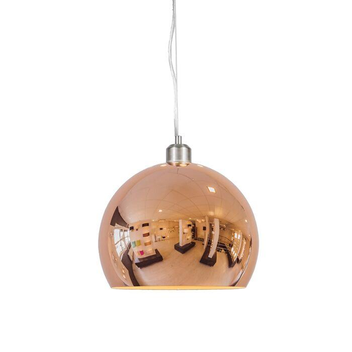 Pendelleuchte-Globe-28cm-Kupfer