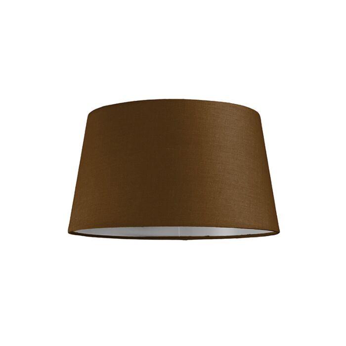 Lampenschirm-30cm-rund-SU-E27-braun