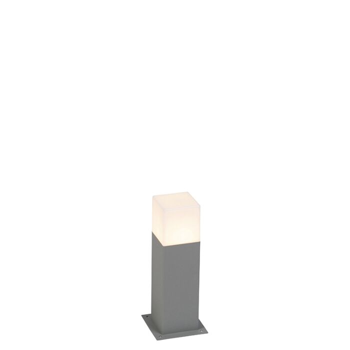 Moderne-Außenstehleuchte-30-cm-grau-IP44---Dänemark