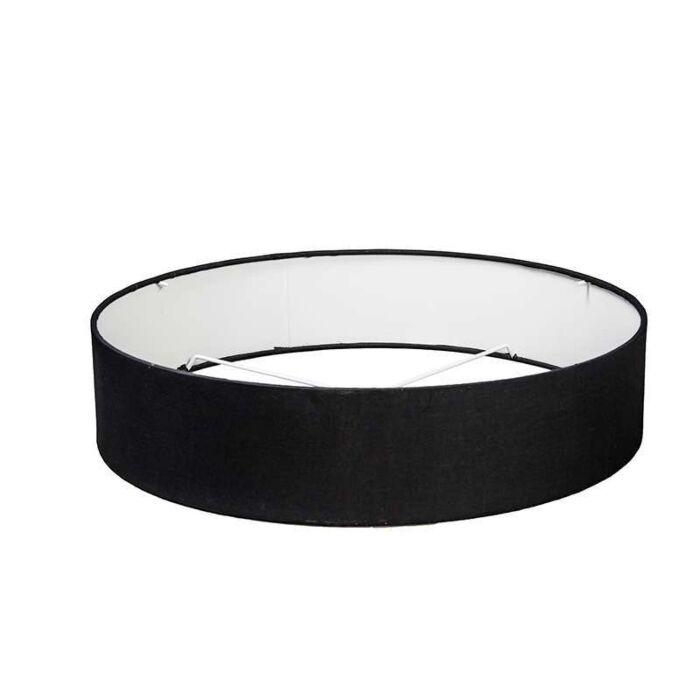 Lampenschirm-50/50/11-schwarz-für-Drum-Deckenleuchte