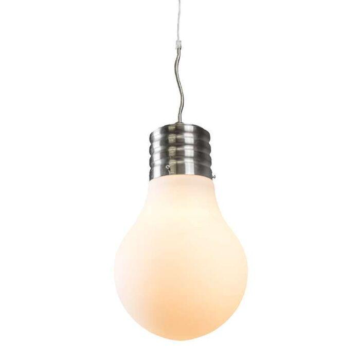 Pendelleuchte-Bulb-Stahl-mit-weißem-Opalglas