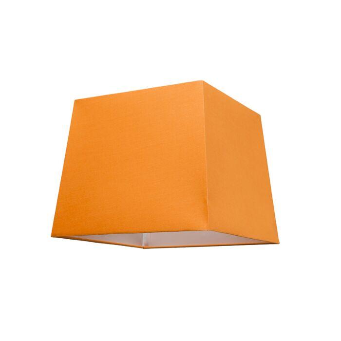 Lampenschirm-30cm-quadratisch-orange