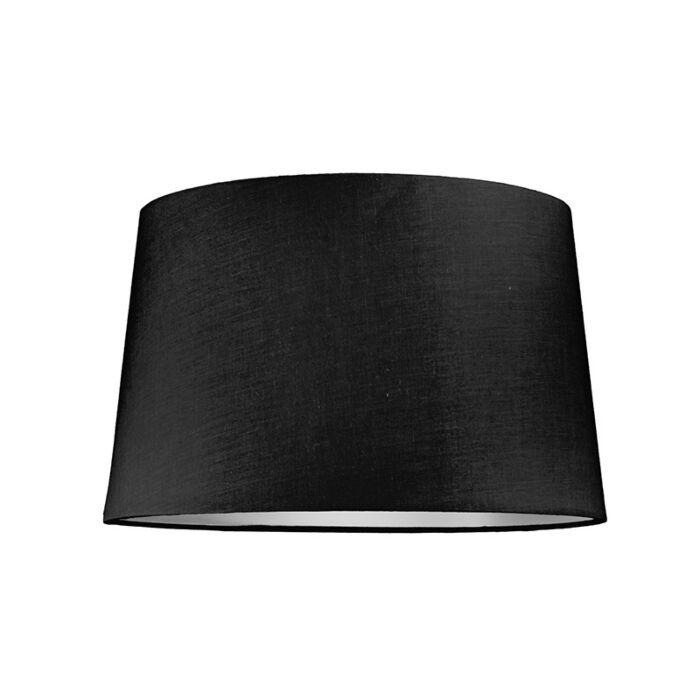 Lampenschirm-40cm-rund-SU-E27-schwarz