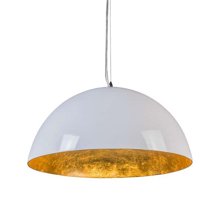 Pendelleuchte-Magna-hochglanz-55cm-weiß-gold