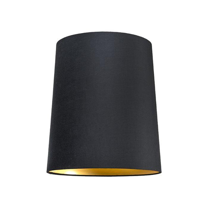 Schirm-35cm-rund-SU-E27-schwarz-gold