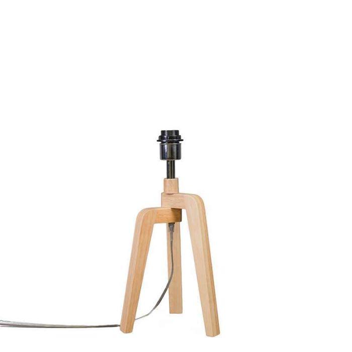 Tischleuchte-Puros-Holz-ohne-Schirm