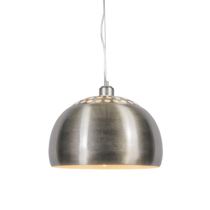 Moderne-runde-Hängelampe-aus-Stahl---Globe