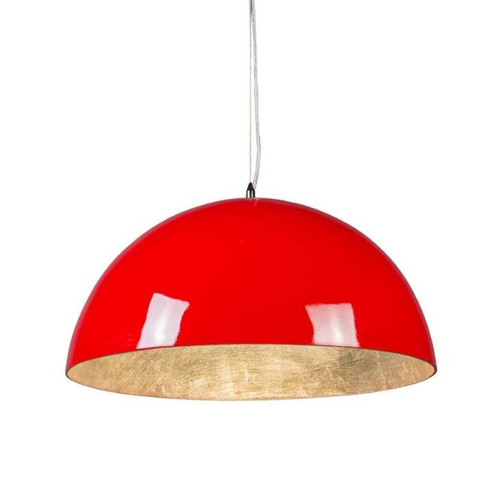 Pendelleuchte-Magna-hochglanz-55cm-rot-silber