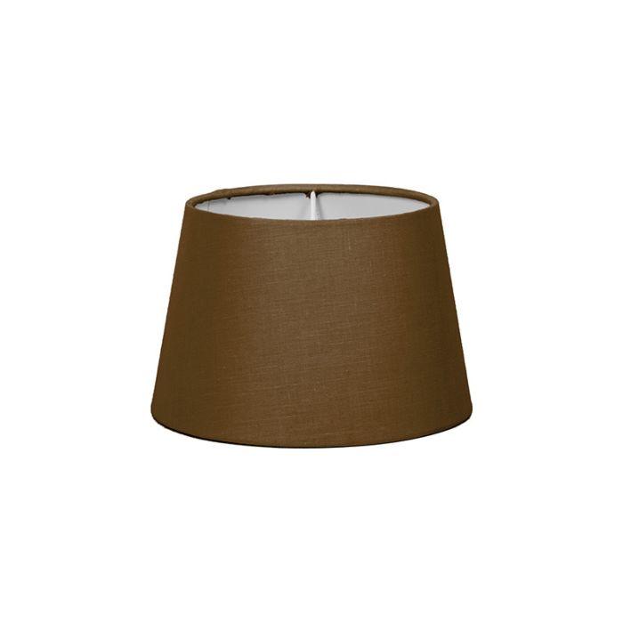 Lampenschirm-18cm-rund-SD-E27-braun