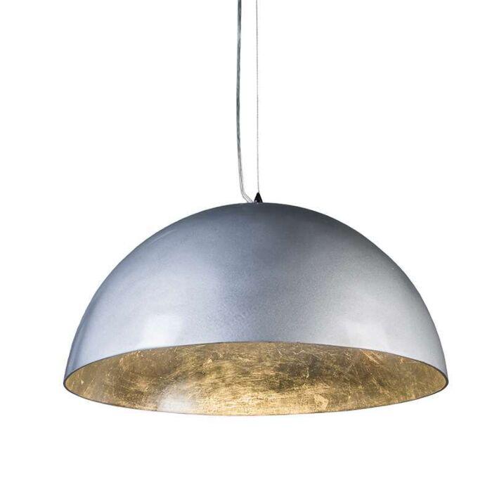 Pendelleuchte-Magna-hochglanz-55cm-silber-silber