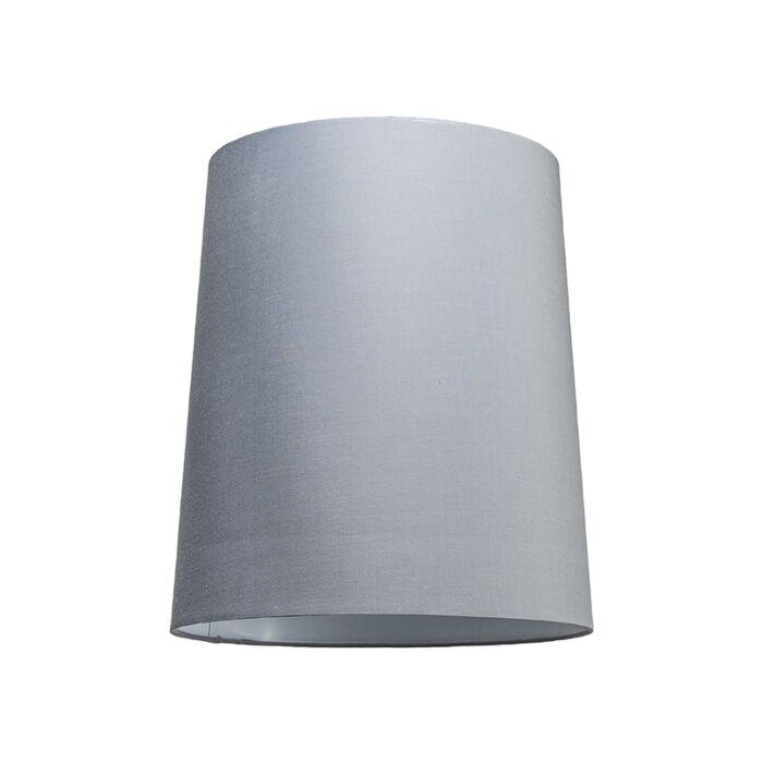Lampenschirm-35cm-rund-SU-E27-grau-weiß