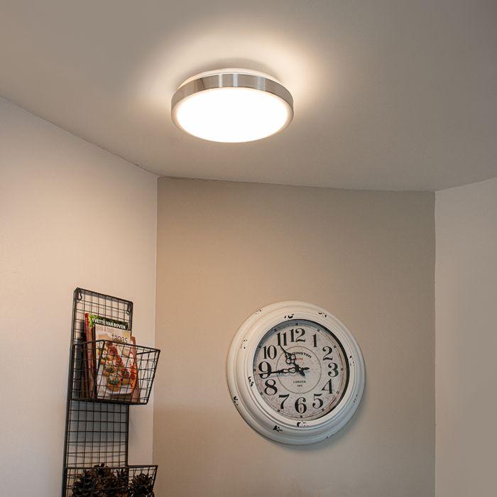 Moderne-Aluminium-Deckenleuchte-31-cm-inkl.-LED-12W---Avant