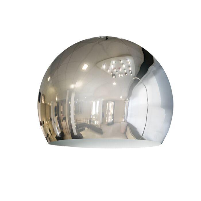 Lampenschirm-Globe-28cm-Chrom