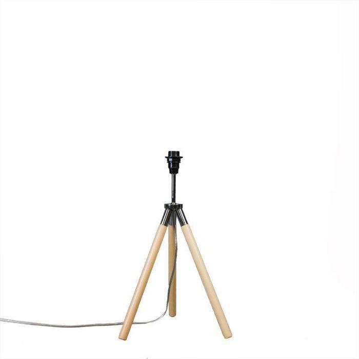 Tischleuchte-Treppiede-Holz-ohne-Schirm