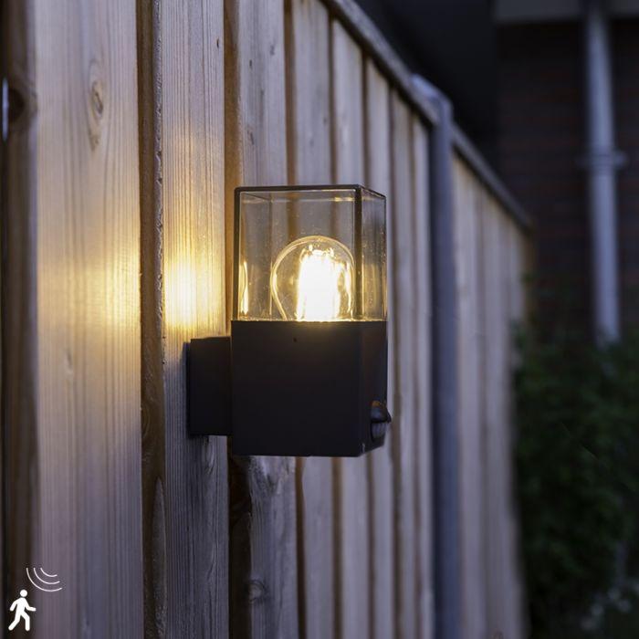 Außenwandleuchte-dunkelgrau-mit-Bewegungsmelder-IP44---Dänemark
