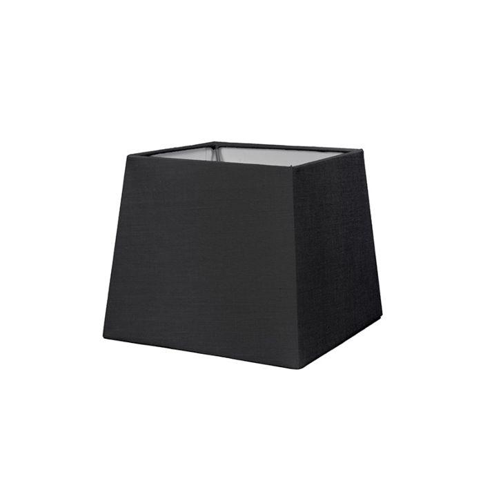 Lampenschirm-18cm-quadratisch-SD-E27-schwarz
