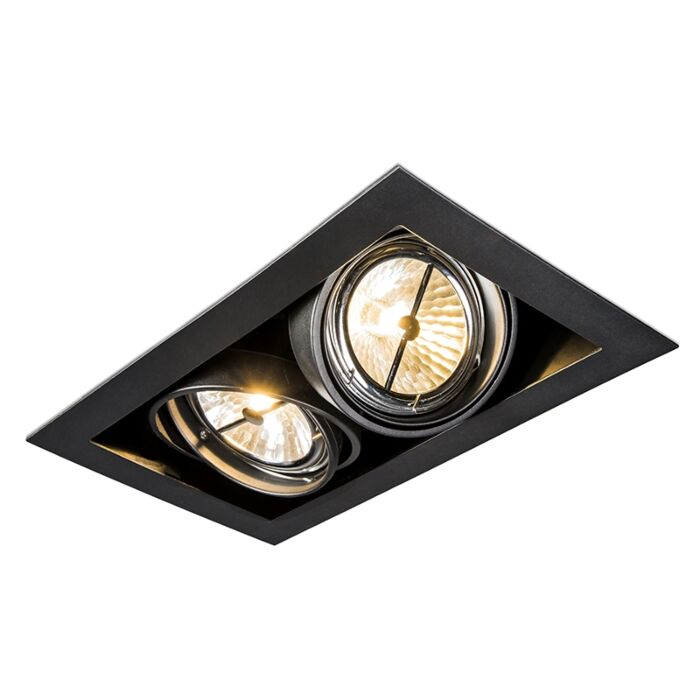 Einbaustrahler-schwarz-schwenkbar-2-Flammig---Oneon-111-2