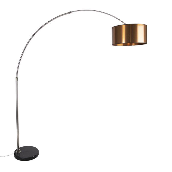 Bogenlampe-Lampenschirm-Kupfer-50-cm---XXL