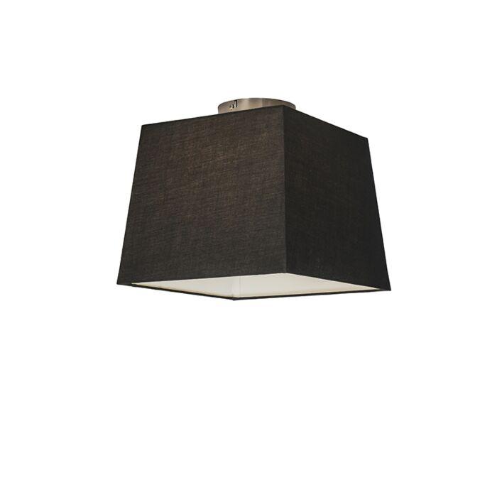 Deckenleuchte-Combi-30cm-quadratisch-schwarz