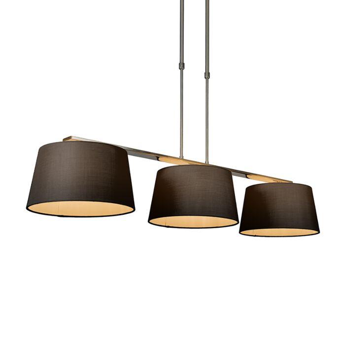 Pendelleuchte-Combi-Delux-3-Schirm-rund-30cm-schwarz