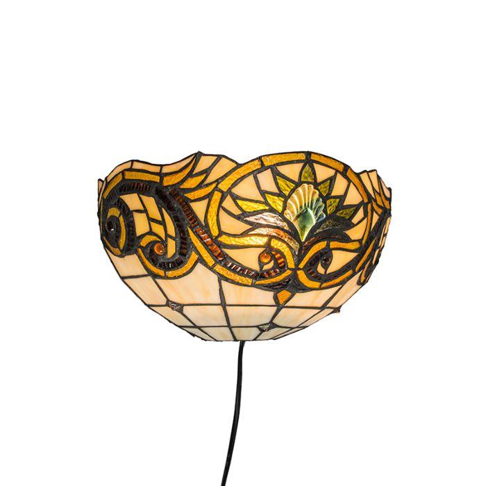 Wandleuchte-Tiffany-Sunflower