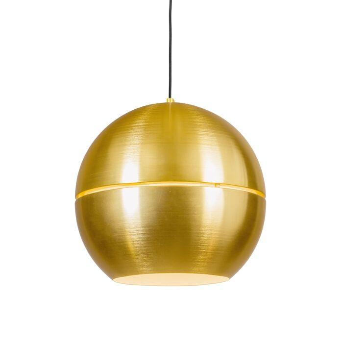 Retro-Hängelampe-Gold-40-cm---Slice