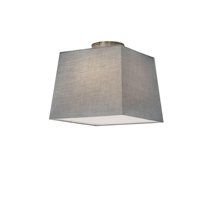 Deckenleuchte-Combi-30cm-quadratisch-grau