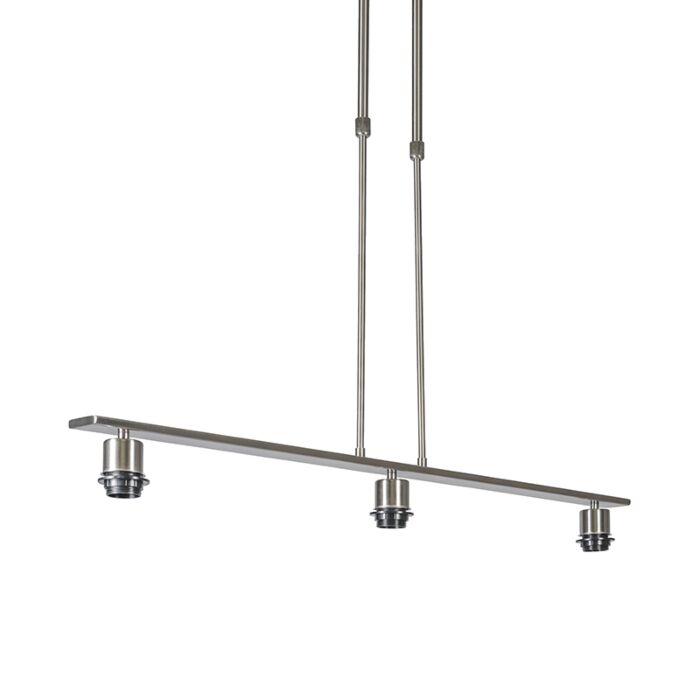 Hängelampe-Stahl-ohne-Schirm---Combi-3-Deluxe