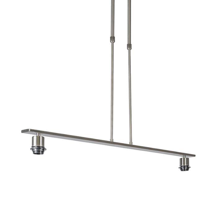 Pendelleuchte-Combi-2-Deluxe-Stahl-ohne-Schirme