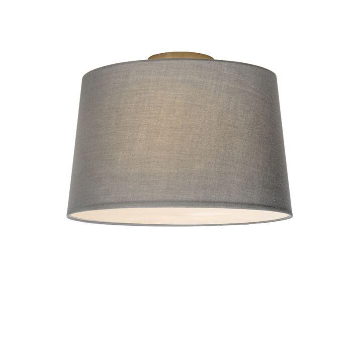 Deckenleuchte-Combi-40cm-grau-mit-Blende
