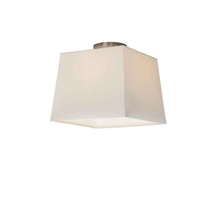 Deckenleuchte-Combi-30cm-quadratisch-weiß