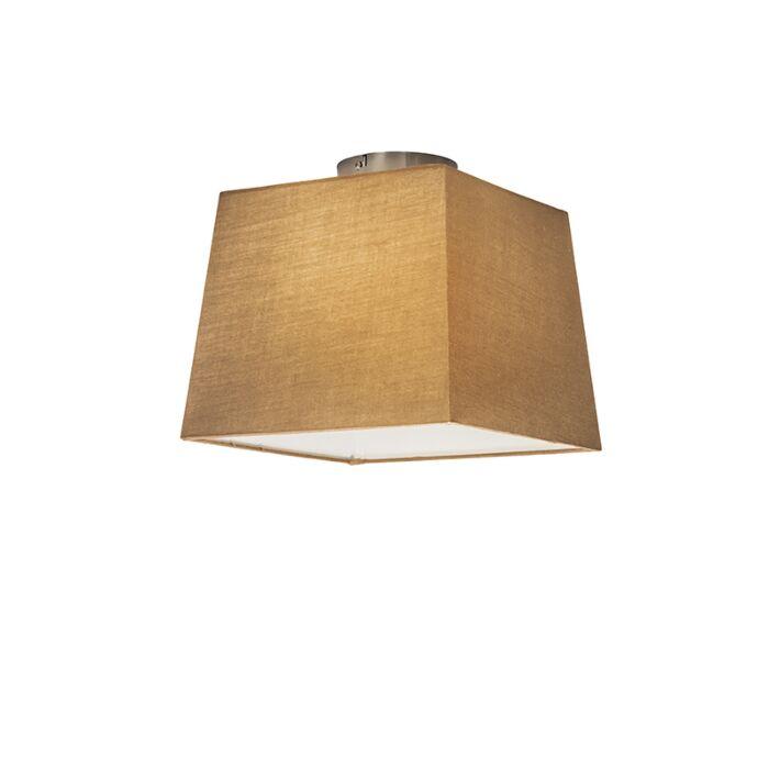 Deckenleuchte-Combi-30cm-quadratisch-beige