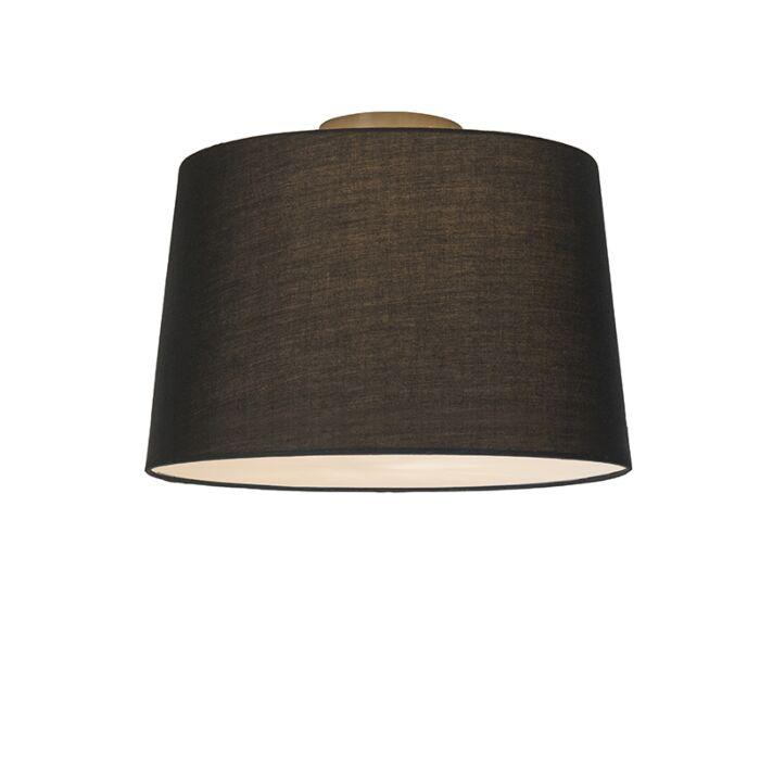 Deckenleuchte-Combi-40cm-schwarz-mit-Blende