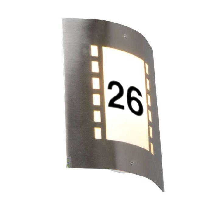 Außenleuchte-Emmerald-mit-Lichtsensor-und-Hausnummeraufklebern