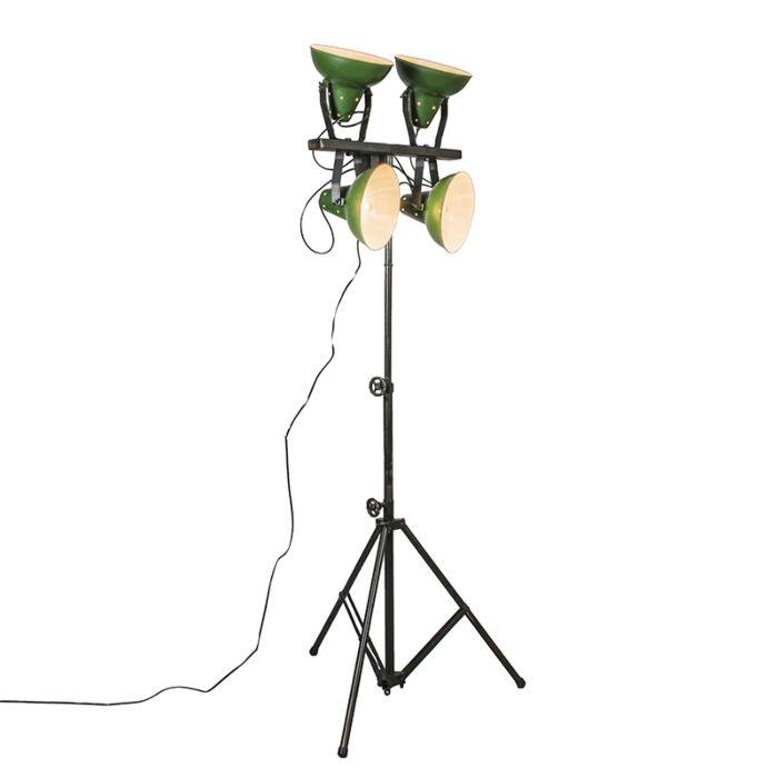 Stehleuchte-Pedestal-grün