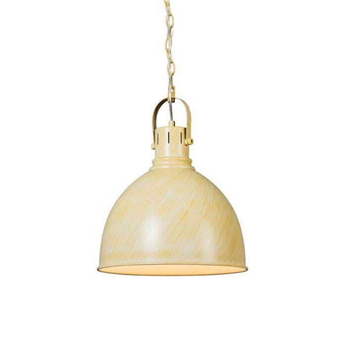 Industrielle-runde-hängende-Lampe-antikes-Weiß---Goblet