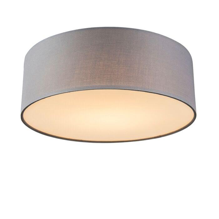 Deckenleuchte-grau-30-cm-inkl.-LED---Drum-LED