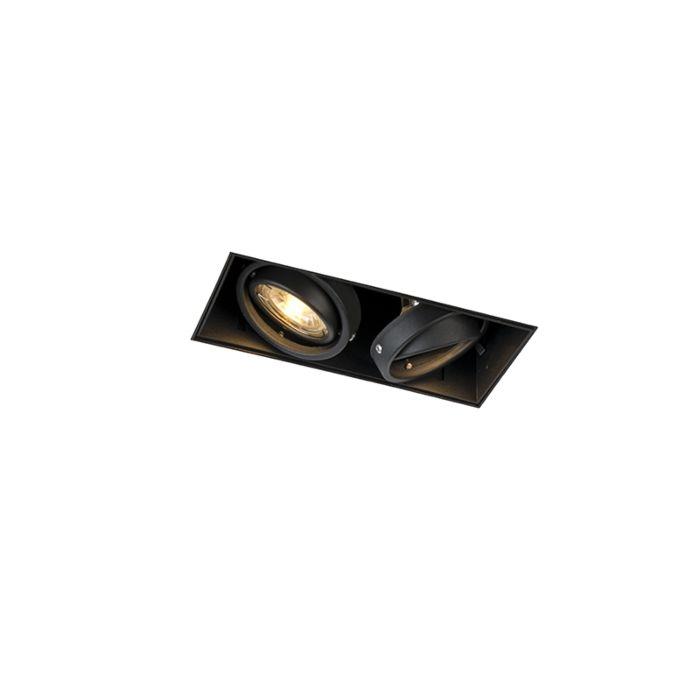 Einbaustrahler-schwarz-drehbar-und-neigbar-rahmenlos-2-flammig--Oneon-2