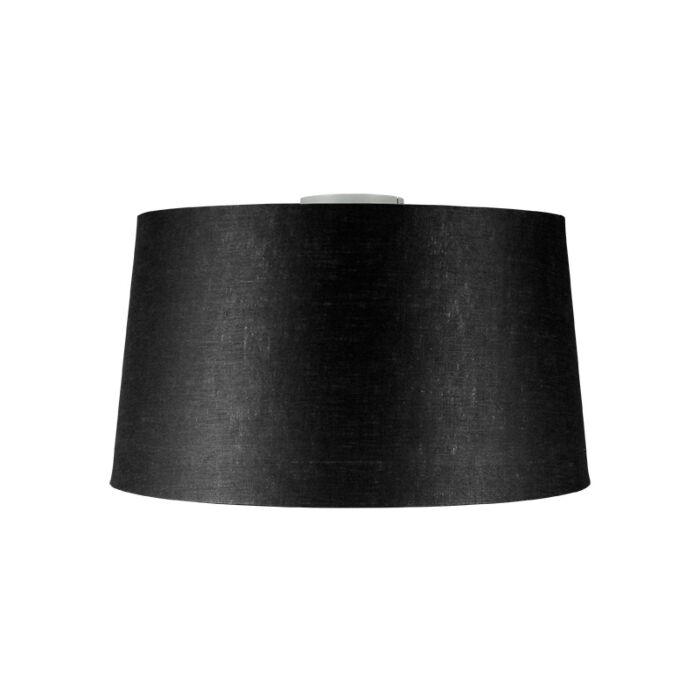 Moderne-Deckenleuchte-weiß-mit-schwarzem-Schirm-45-cm---Combi