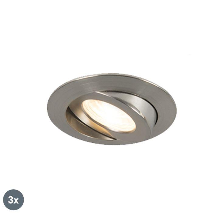 3er-Set-Einbaustrahler-Stahl-inkl.-LED-IP44---Relax-LED
