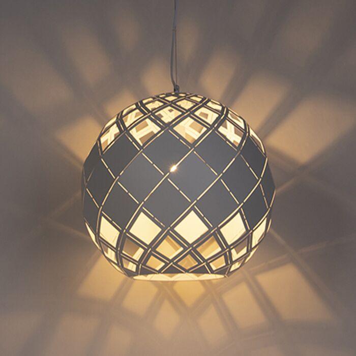 Art-Deco-Hängelampe-weiß---Tourmaline